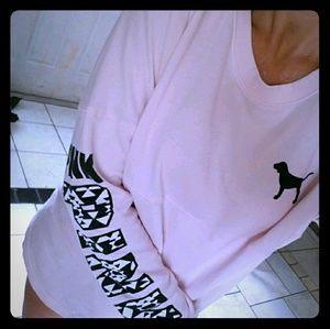 HTF, vs pink Aztec crew neck sweater